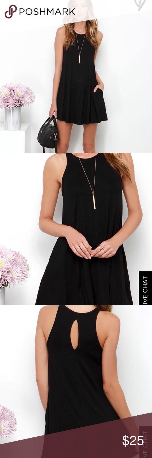 Tupelo honey black dress Black shift dress. Perfect for any occasion. Key hole back Lulu's Dresses