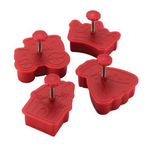 Cake Boss Decorating Tools 4Piece Princess Fondant Press Set Red >>> Click image to review more details.