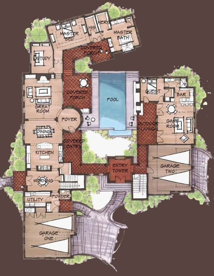 Mexican Hacienda Style House Plans Inspirational Mexican Style Homes Plans Fresh Hacienda Style H Unique House Plans Courtyard House Plans Hacienda Style Homes