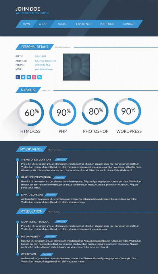 82 best Resume Templates \/ Plantillas images on Pinterest Plants - resume website template