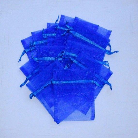 100 Organza Bags 3x4 inch, Royal Blue #Bags #BeautifulBags #OrganzaBags #BlueBags