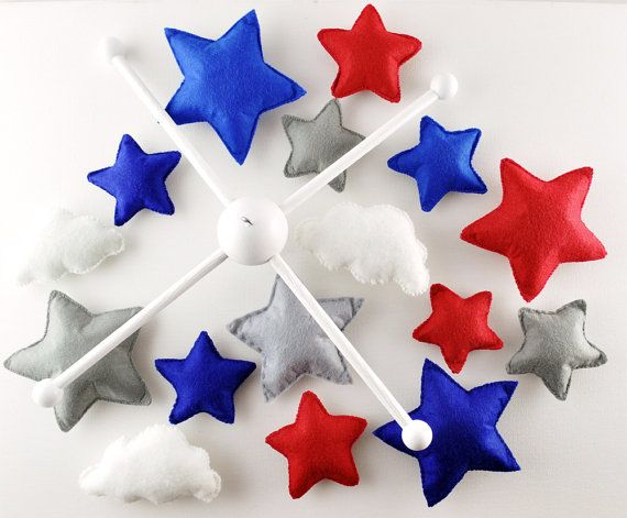 Stars Baby mobile star cloud mobile felt STAR by SweetChildhood
