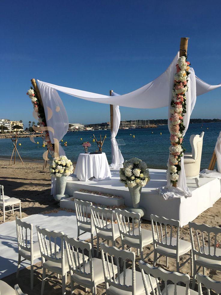mariage la plage de lecrin cannes wedding planner cannes organisation - Palm Beach Cannes Mariage