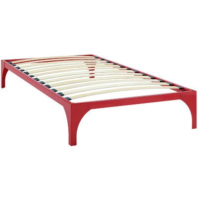 modway ollie bed frame size twin color red - Twin Bed Frame Size