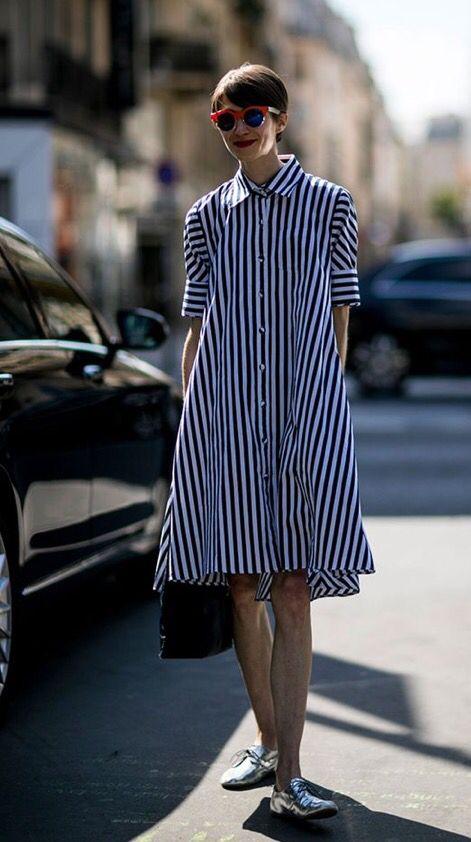 Stripes, shirt dress  #Soule Styling