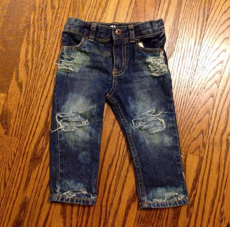 Tore Up from the Floor Up distressed baby jeans (medium/dark wash) by LittleBuddyApparel on Etsy https://www.etsy.com/listing/236543488/tore-up-from-the-floor-up-distressed