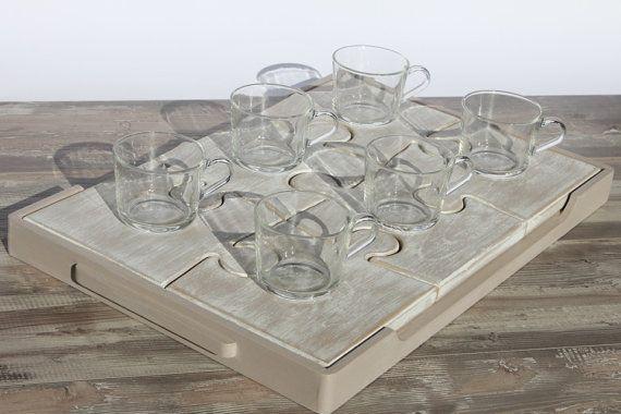 Wooden tray / Vassoio Puzzle / Vassoio / di VenaturArtistica