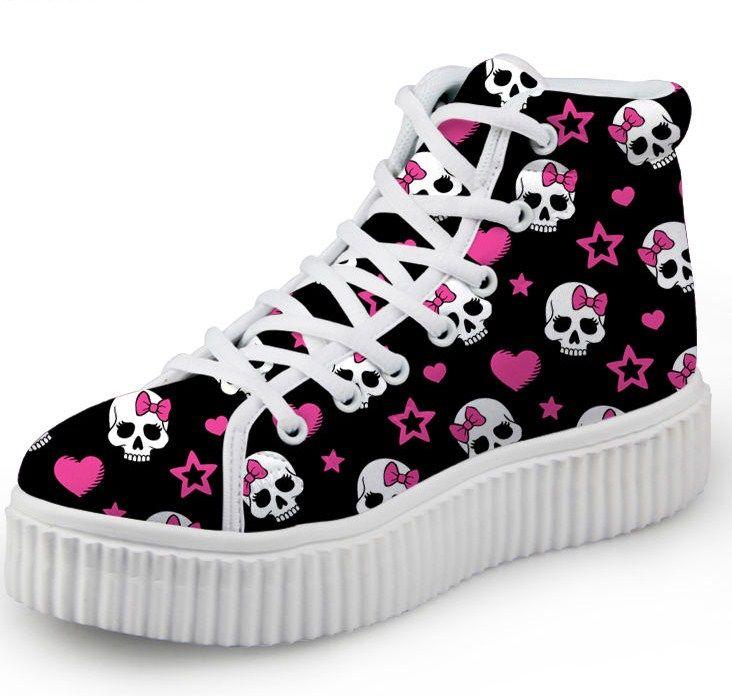 Skull Print Women Shoes 6 Colours