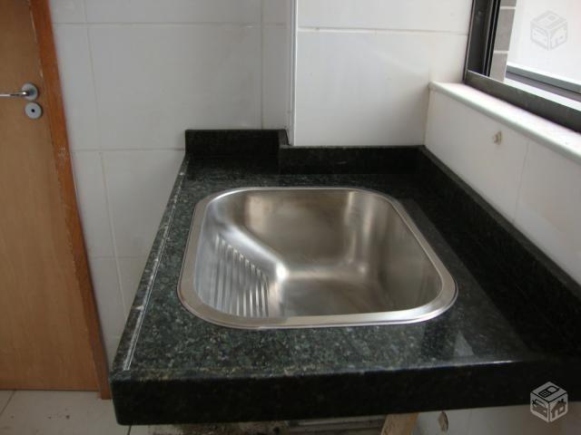 tanque inox granito | ... Tanque de granito verdeubatuba 80cm c/cuba inox TRAMONTINA 1º LINHA