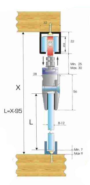 SCK 80 - KG Sürgülü Cam Kapı Sistemi