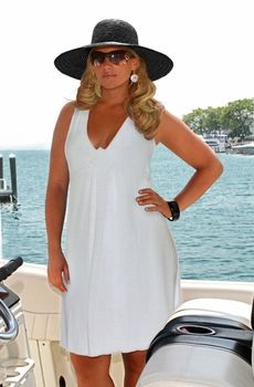 Women's Plus Size Cover Ups - Always For Me Cover V Neck Empire Waist Dress