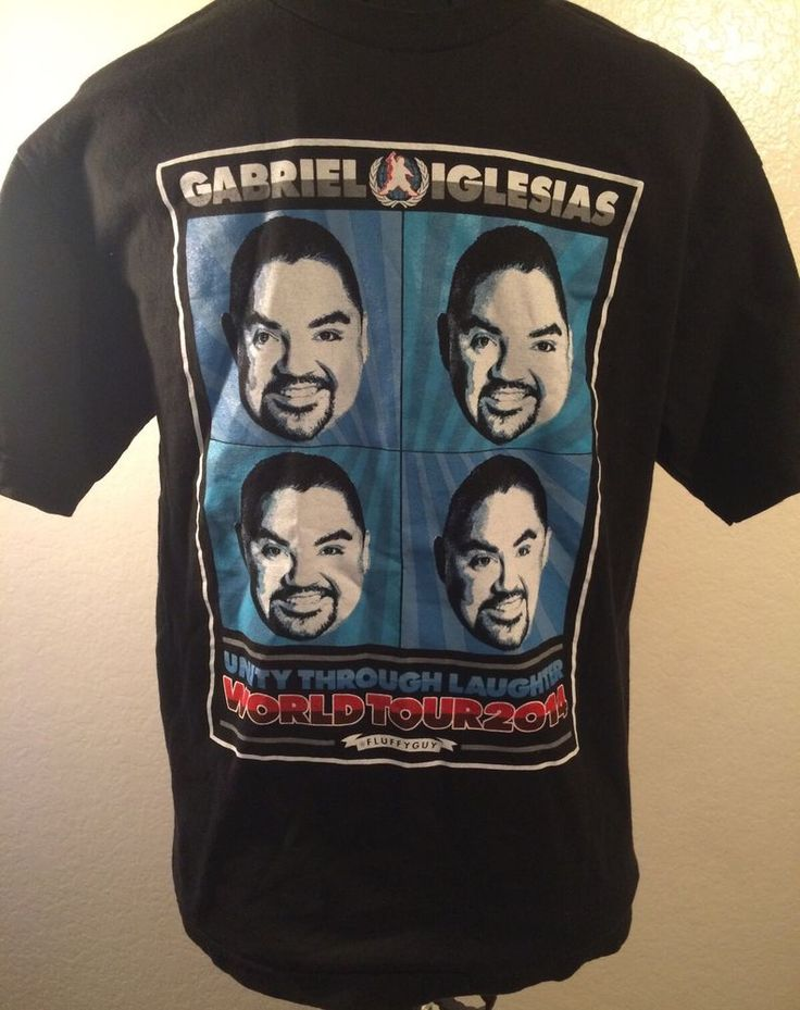 Gabriel Iglesias Shirt Men Medium Unity Through Laughter Tour 2014 Fluffy Guy #Fluffy #GraphicTee