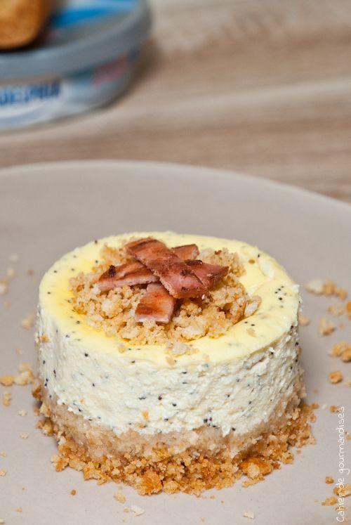 Cheesecakes salés au bacon et pavot - Cahier de gourmandises