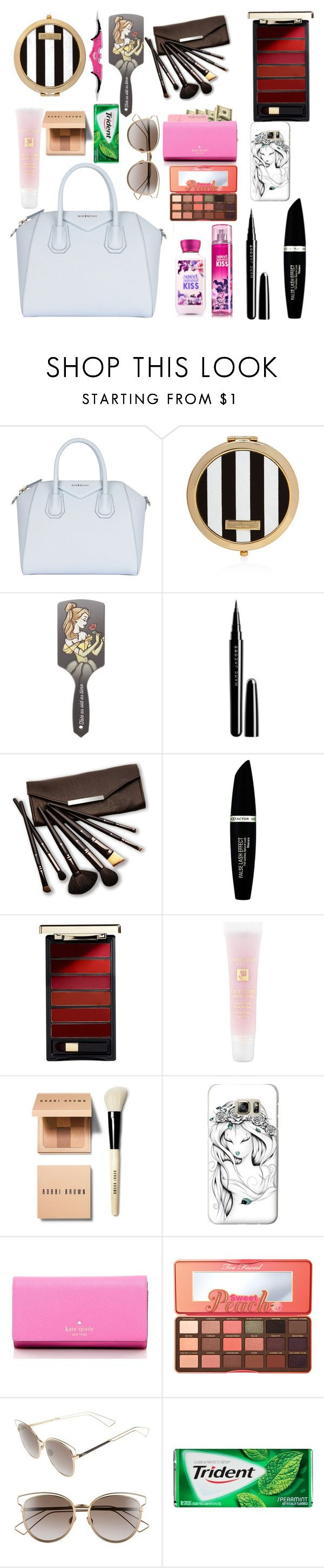 """""""what's in my purse"""" by misslewis97 on Polyvore featuring beauty, Givenchy, Henri Bendel, Disney, Marc Jacobs, Borghese, Max Factor, L'Oréal Paris, Lancôme and Bobbi Brown Cosmetics"""