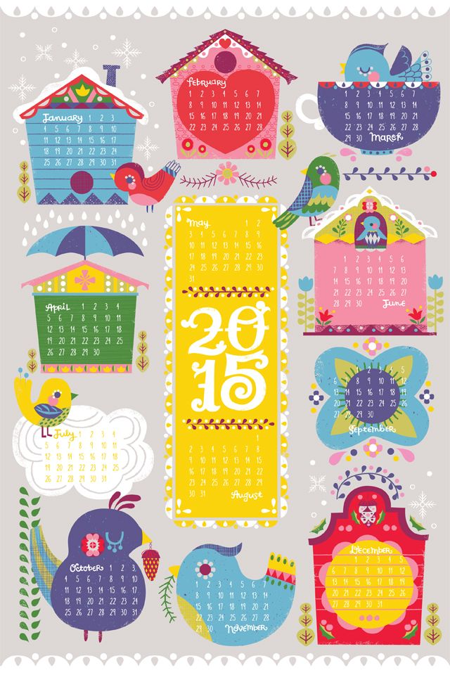 shamelessly cute: Spoonflower 2015 tea towel calendar