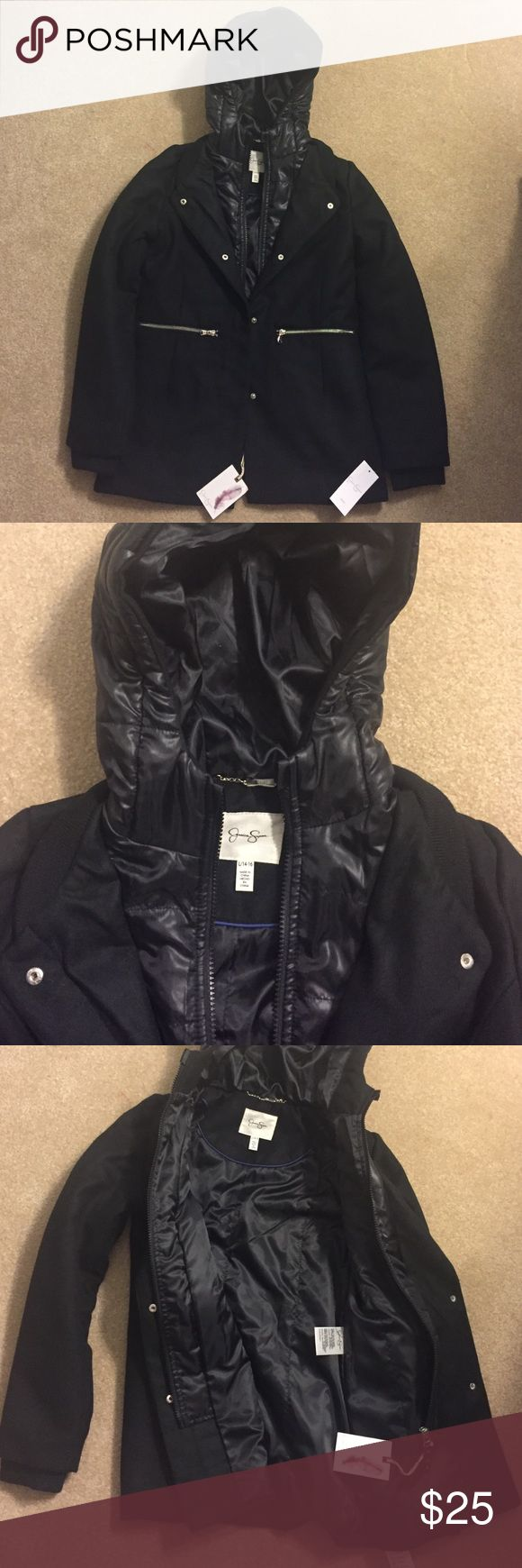 Jessica Simpson Girls 14/16 Winter Coat ❄️ Compact but very warm black coat with hood. Jessica Simpson. Jessica Simpson Jackets & Coats