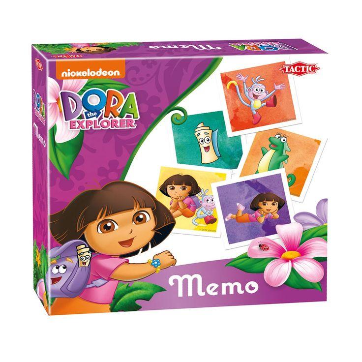 Vind Dora en haar vriendjes in dit memospel! Draai de kaartjes van het tekenfilmfiguur om en onthoud wat je ziet. Verzamel zoveel mogelijk setjes en word de winnaar van dit populaire spel! Dora memo bevat 72 kaartjes en is geschikt voor 2 of meer spelers vanaf 3 jaar.Afmeting:  verpakking 22 x 22 x 5 cm - Dora Memo
