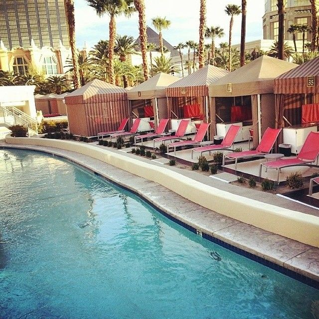 You deserve this. Kick back at one of these cabanas on @mandalaybay's lazy river. #MakeVegasYours