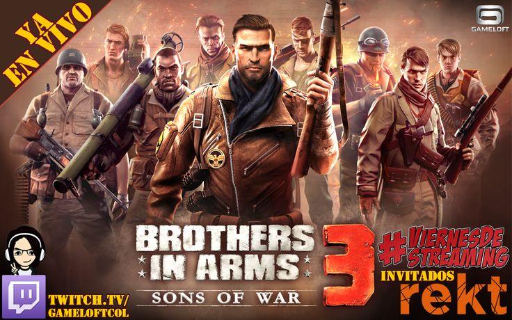 Ya estamos en vivo en el #ViernesDeStreaming de Gameloft con #BrothersInArms. http://www.enter.co/especiales/videojuegos/hub/gameloft/la-guerra-llega-al-viernes-de-streaming-de-gameloft/