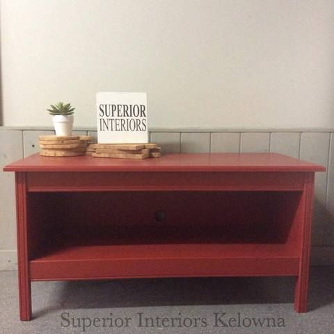 TV cabinet - stand built and finished by Superior Interiors Kelowna - Mixologist Contest - Mixed equal parts Superior Paint Co. Rusty Nail with