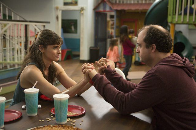 """Togetherness"" ~ Handcuffs (TV Episode 2015 HBO) Amanda Peet is going to turn Steve Zissis into a stud-ly leading man. This show is funny. Check it out!"