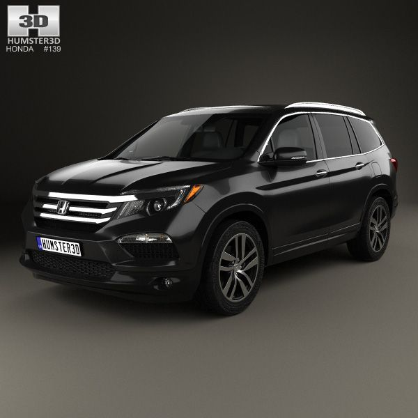 Honda Pilot Elite 2016 3d model from Humster3D.com