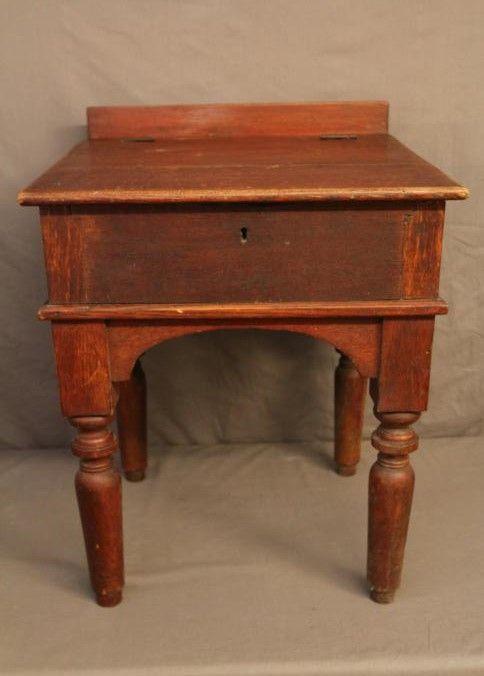 Slant Top Desk Having Four Cubbies Spaces 21 25 X20 5 X30 75 T Cubbies Furniture Decor