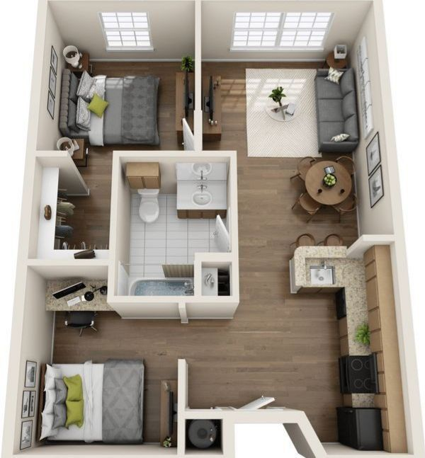 My Only One Miya Atsumu Things To Do Sims House Plans Small House Plans Sims House Stylish two bedroom duplex spreading