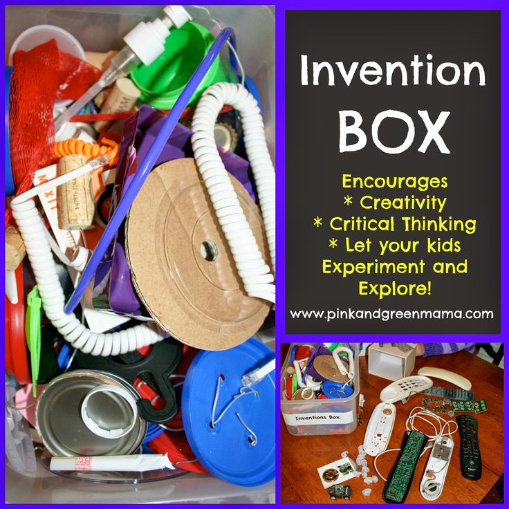 Keep 'em Busy...They Just Might Learn Something! Create An Invention Box With Recyclables.