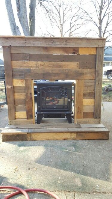 Pallet fireplace                                                                                                                                                      More