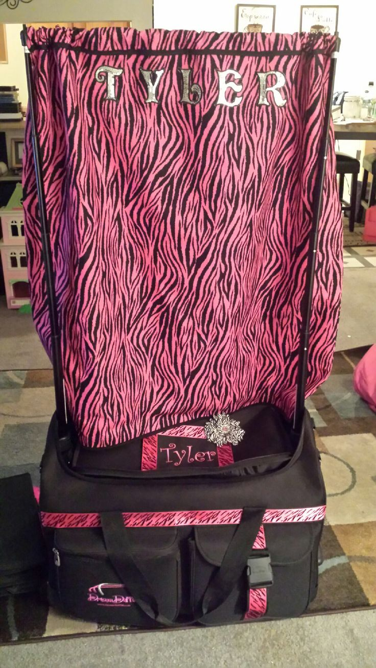 Changing curtain I made for my daughter's dream duffel