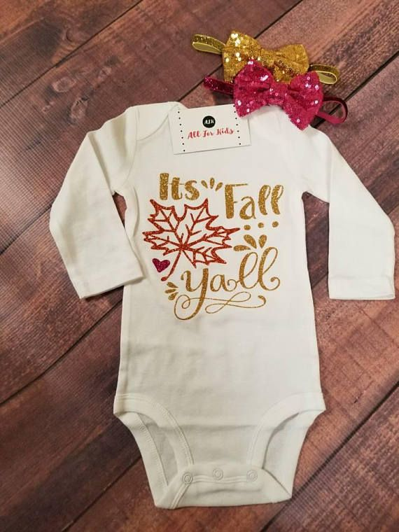 Baby girl clothes, it's fall y'all bodysuit, thanksgiving outfits, fall baby shirts