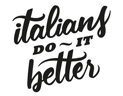 """Check out new work on my @Behance portfolio: """"ITALIANS do it BETTER"""" http://on.be.net/1HSeJEh"""