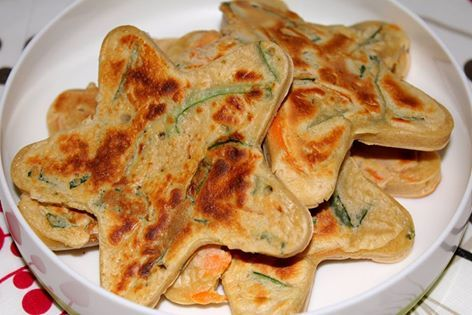 Easy Buckwheat Vegetable Pancakes With leeks, Chives and carrots