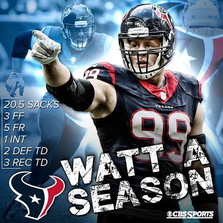 JJ Watt's numbers were absolutely ridiculous. He ends the season as a legitimate MVP candidate for the Houston Texans.
