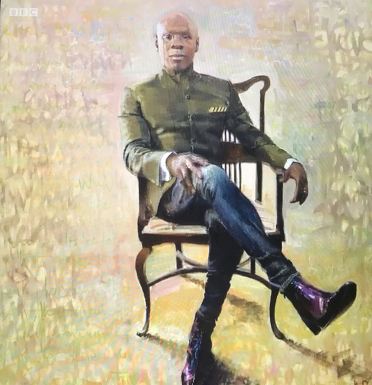 Adbanji portrait painting of Chris Eubank