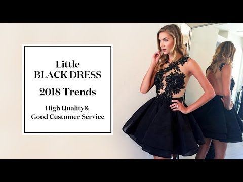 f5b1f0a7f314e5 (75) 2018 Little Black Dresses & LBDs Trends - The Top Styles Junior Black  Dress for Prom Girls - YouTube