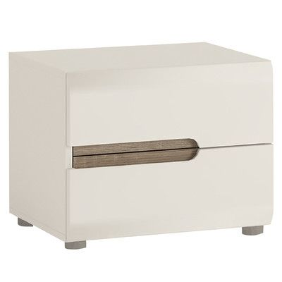 House Additions Lancaster 2 Drawer Bedside Table