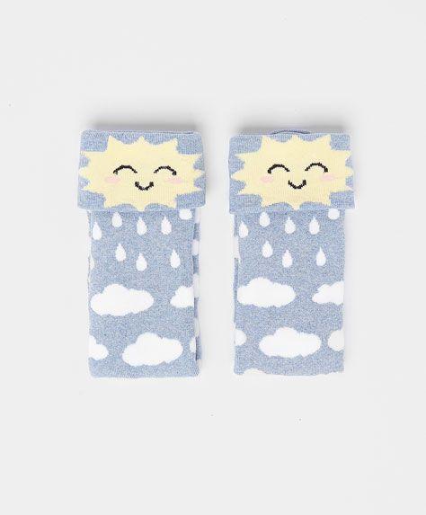 Sun & Cloud Socks #oysho #socks