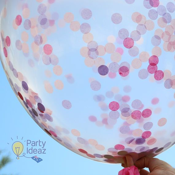 Our Pink Confetti Balloons are stunning especially with the lilac accompanying the Pink. Perfect for Girls Baby Showers, all age & 1st Birthday Partys, Bridal Showers, Girls Christening and any other Celebration with Pink Decorations. They are 90cm / 36 so are the Jumbo Confetti Balloons. The tassels are included and match the confetti perfectly. To complete your Jumbo Confetti Balloons we have 3 colours, 2 shades of pink and lilac. We also include the balloon string for you and even...