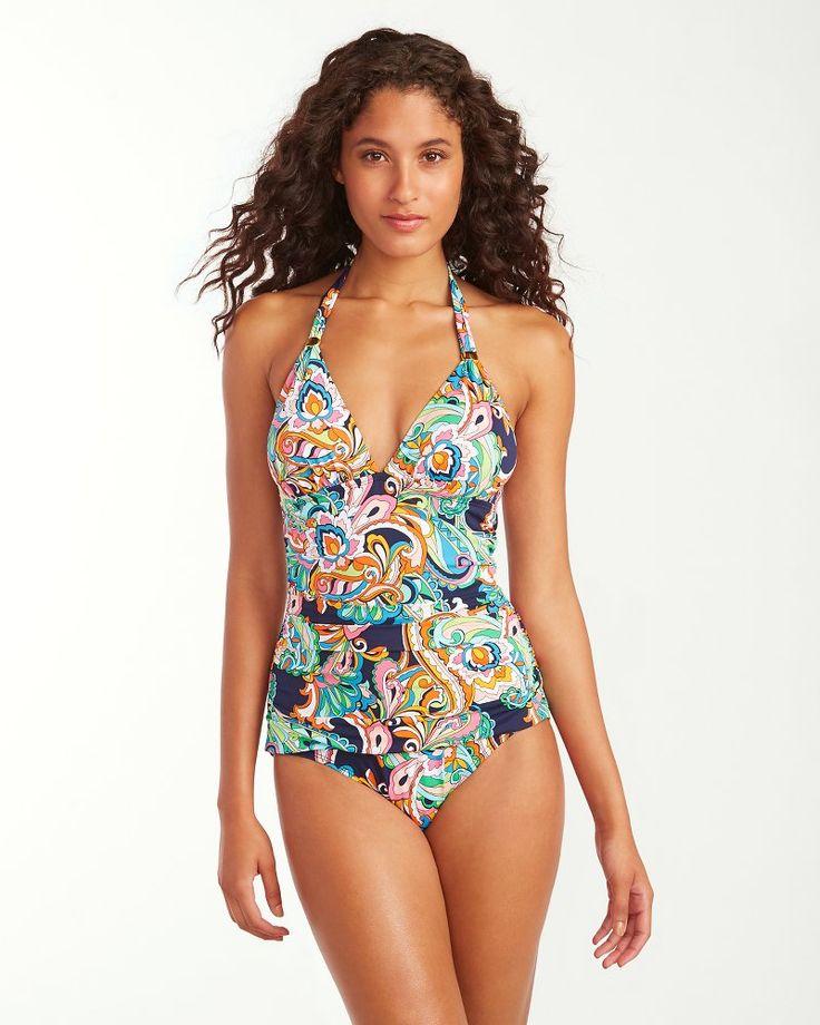 Mare Paisley Halter One-Piece Swimsuit