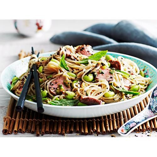 Lamb and edamame soba noodles recipe - By Real Living