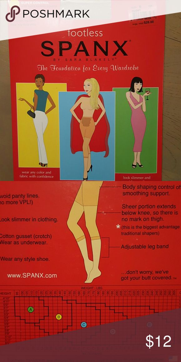 Spanx Footless New Spanx Footless  Size B  Nude Super Control NWT SPANX Intimates & Sleepwear Shapewear
