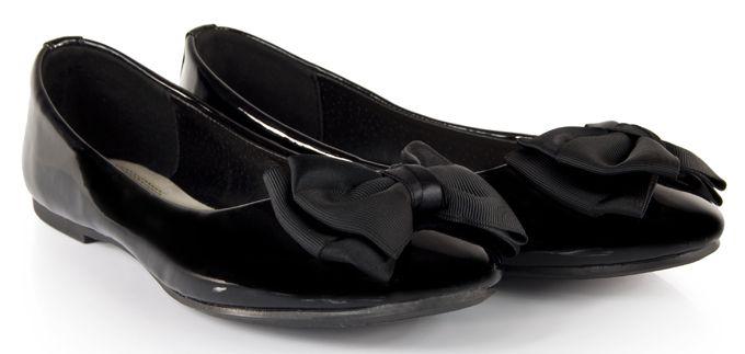 Lakierowane Balerinki Z Kokarda Lakierki Wedges Shoes Fashion