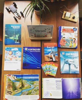Materialwiese: Thementisch im Sachunterricht Strom / Elektrizität
