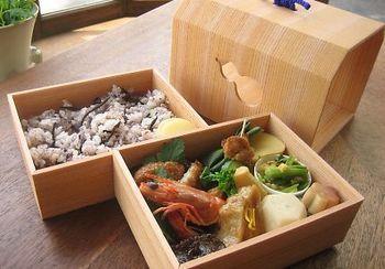 オーガニック六角堂弁当です。オーガニックの本格京懐石料理が楽しめます。