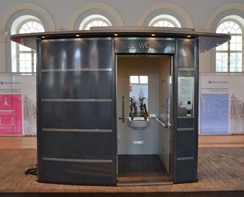 Туалетная кабина, конструкции уличной мебели, фото advertology.ru