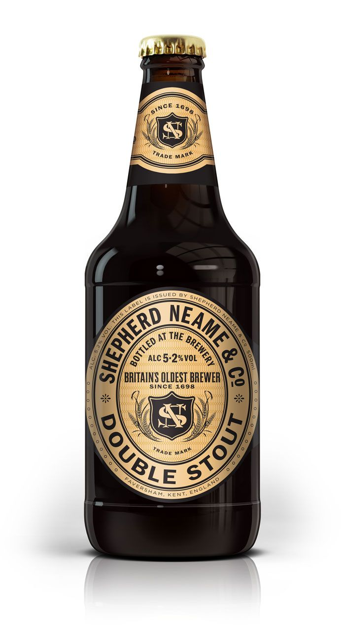Shepherd & Neame Ale Classic Collection - Packaging for a Double Stout & India Pale Ale with layout and typography cues from 18th century designs.