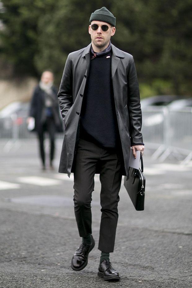 French Street Fashion Winter Men