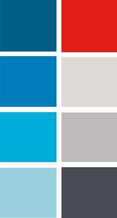 Die Farbpalette gibt einen klaren Hinweis auf die Herkunft in der medizinischen Industrie, hat aber auch einen skandinavischen Look. Das Unternehmen ist dänisch und die Produkte werden vor allem in den USA verkauft.